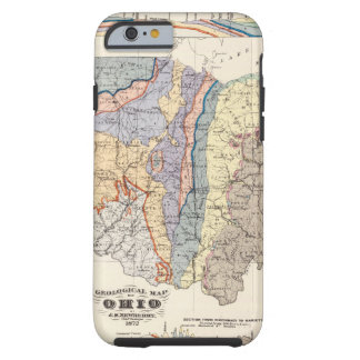 Geological map of Ohio Tough iPhone 6 Case