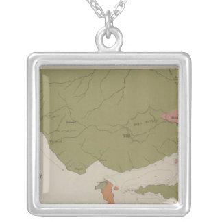 Geological Map of the Clear Lake District Silver Plated Necklace