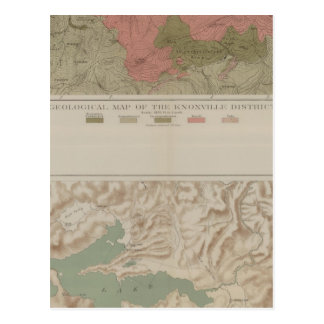 Geological Map of the Knoxville District Postcard