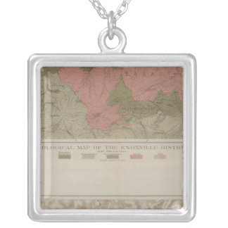 Geological Map of the Knoxville District Silver Plated Necklace