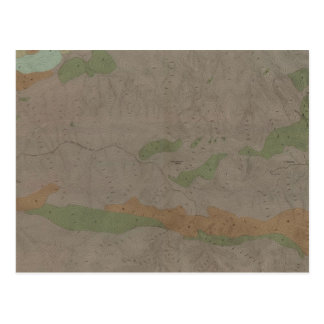 Geological Map of the New Almaden Mining District Postcard