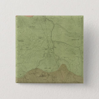 Geological Map of the New Idria District 15 Cm Square Badge