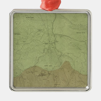 Geological Map of the New Idria District Christmas Ornament