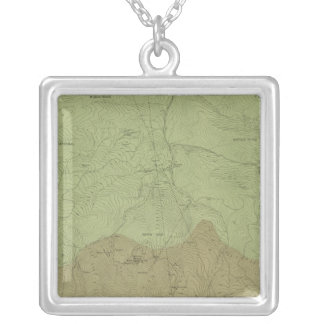 Geological Map of the New Idria District Silver Plated Necklace