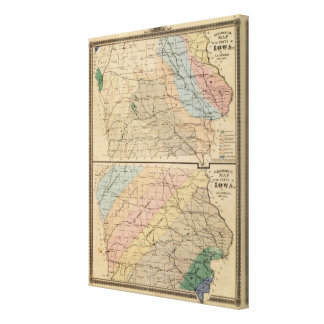 Geological map of the State of Iowa Canvas Print