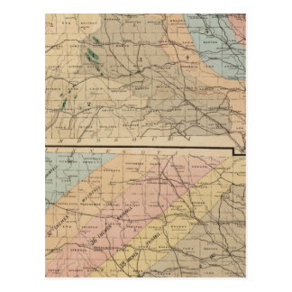 Geological map of the State of Iowa Postcard