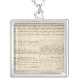 Geological Map of the United States 2 Silver Plated Necklace
