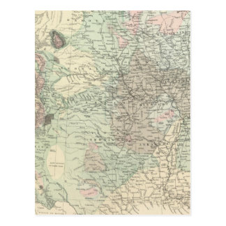Geological Map of the United States Postcard