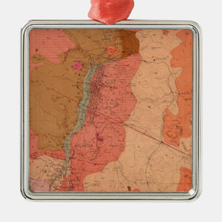 Geological Map of the Washoe District Christmas Ornament