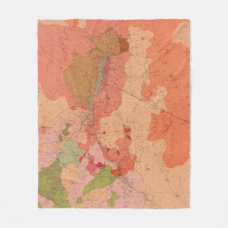 Geological Map of the Washoe District Fleece Blanket