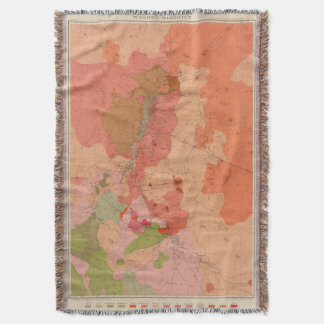 Geological Map of the Washoe District Throw Blanket
