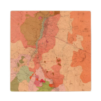 Geological Map of the Washoe District Wood Coaster
