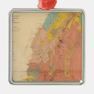 Geological map of Utah Christmas Ornament