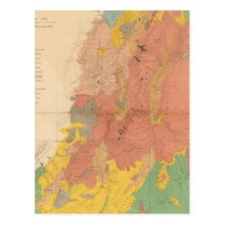 Geological map of Utah Post Cards