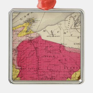 Geological map of Wisconsin Christmas Ornament
