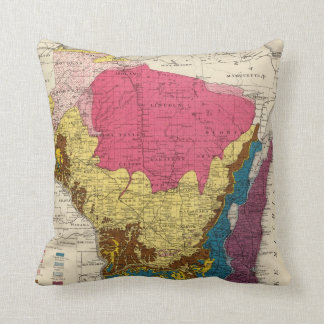 Geological map of Wisconsin Cushion