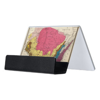 Geological map of Wisconsin Desk Business Card Holder