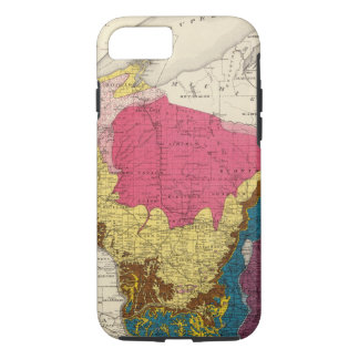 Geological map of Wisconsin iPhone 7 Case