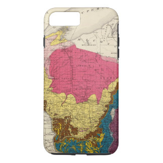 Geological map of Wisconsin iPhone 8 Plus/7 Plus Case