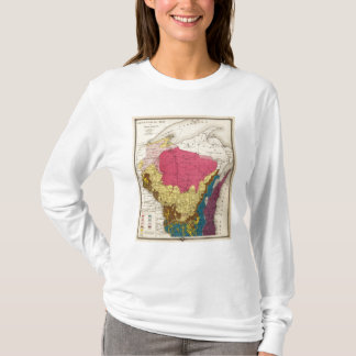 Geological map of Wisconsin T-Shirt