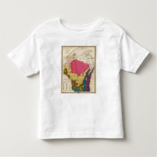 Geological map of Wisconsin Toddler T-Shirt