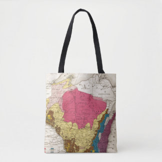 Geological map of Wisconsin Tote Bag