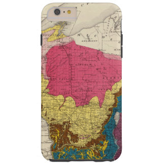Geological map of Wisconsin Tough iPhone 6 Plus Case