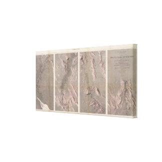 Geological Map Rio Colorado of the West Canvas Print