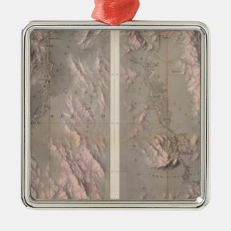 Geological Map Rio Colorado of the West Christmas Ornament