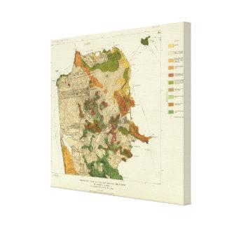 Geological map San Francisco Canvas Print