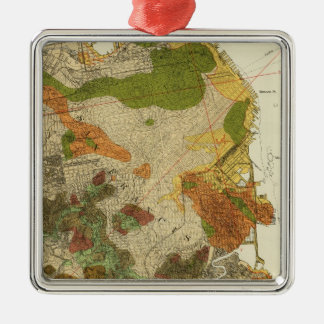 Geological map San Francisco Christmas Ornament