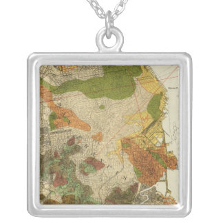 Geological map San Francisco Square Pendant Necklace