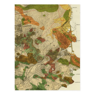 Geological map San Francisco Postcard
