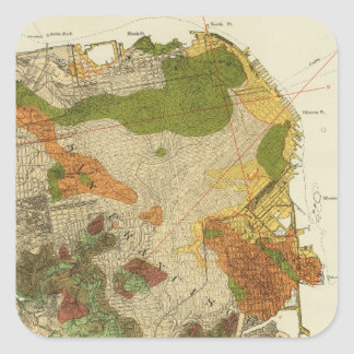 Geological map San Francisco Square Sticker