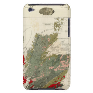 Geological, palaeontological map British Islands iPod Touch Covers