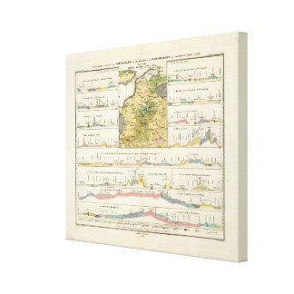 Geological profiles of Germany in general Canvas Print