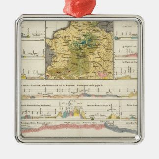 Geological profiles of Germany in general Christmas Ornament