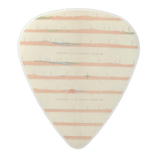 Geological Sections of the Eastern Colorado Acetal Guitar Pick