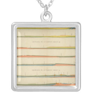 Geological Sections of the Western Colorado Silver Plated Necklace