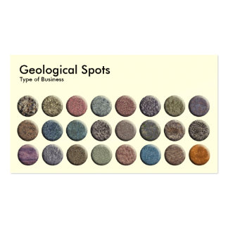 Geological Spots - Cream Business Cards