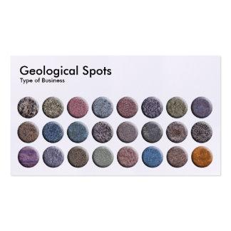 Geological Spots - Linen Business Cards