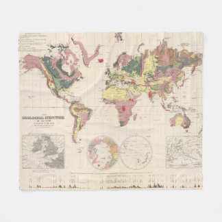 Geological structure of globe fleece blanket
