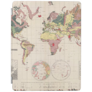 Geological structure of globe iPad cover