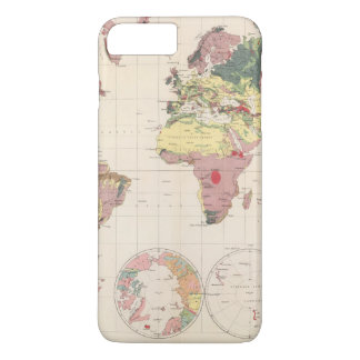 Geological structure of globe iPhone 8 plus/7 plus case