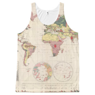 Geological structure of globe All-Over print tank top