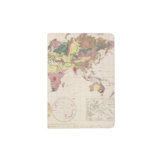 Geological structure of globe passport holder