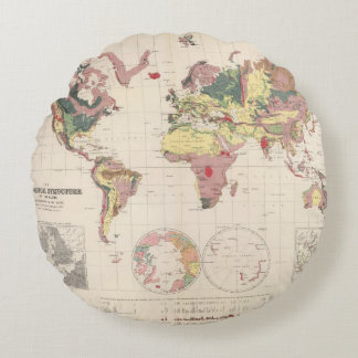 Geological structure of globe round cushion