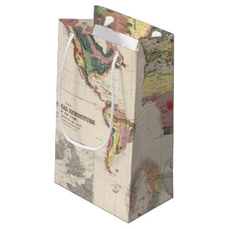Geological structure of globe small gift bag