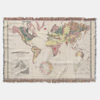 Geological structure of globe throw blanket