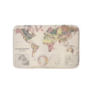 Geological structure of globe bath mats